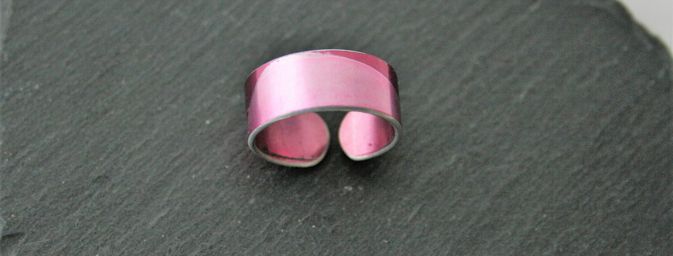Miranda Peckitt Pale Pink Aluminium Ring - Adjustable