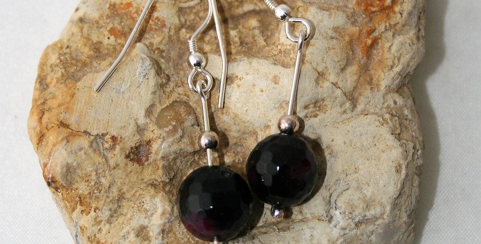 Helen West Agate and Silver drop Earrings
