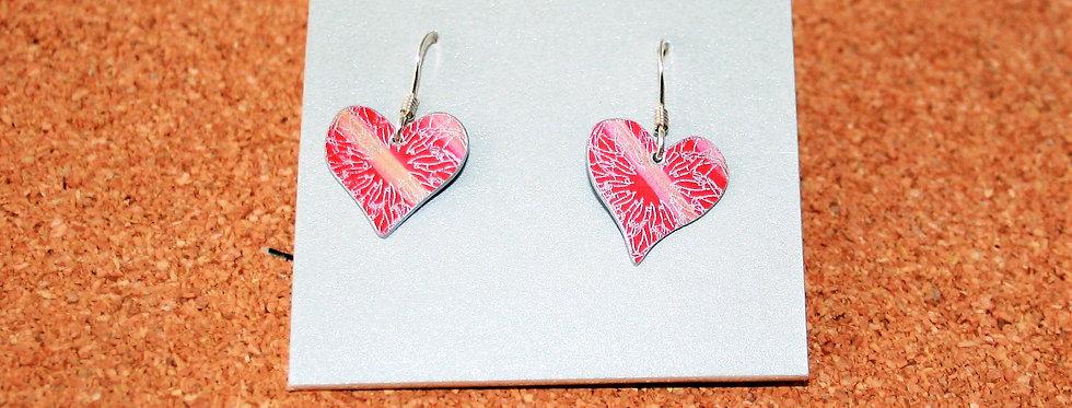 Botanicol- Coloured Aluminium Heart Drop Earrings
