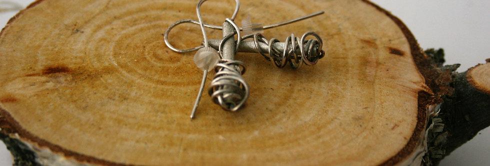 Anterlier Gilmar Rock N Roll Silver Wire Earrings