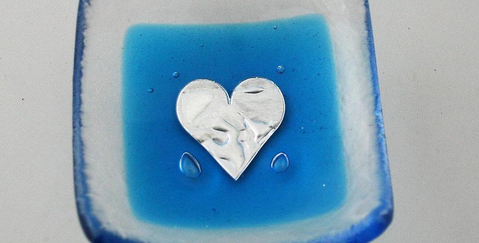 Jo Downs - Blue Heart Earring Dish