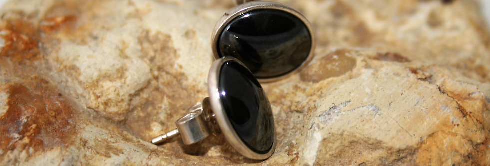 Helen West  and Silver Oval Studs
