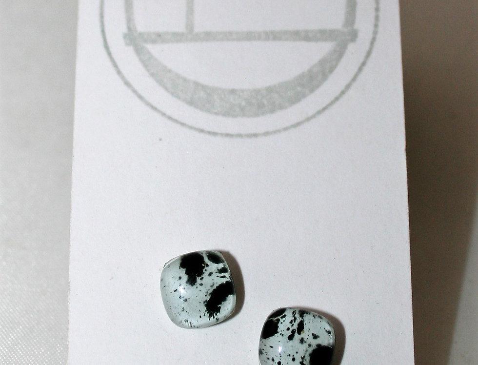 Collette Halstead Glass and Steel Stud Earrings