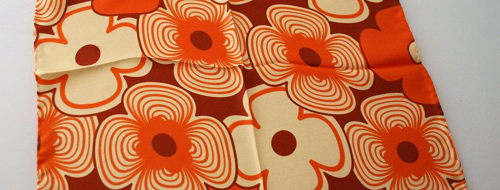 Alison Wiffen Orange Retro Silk Square