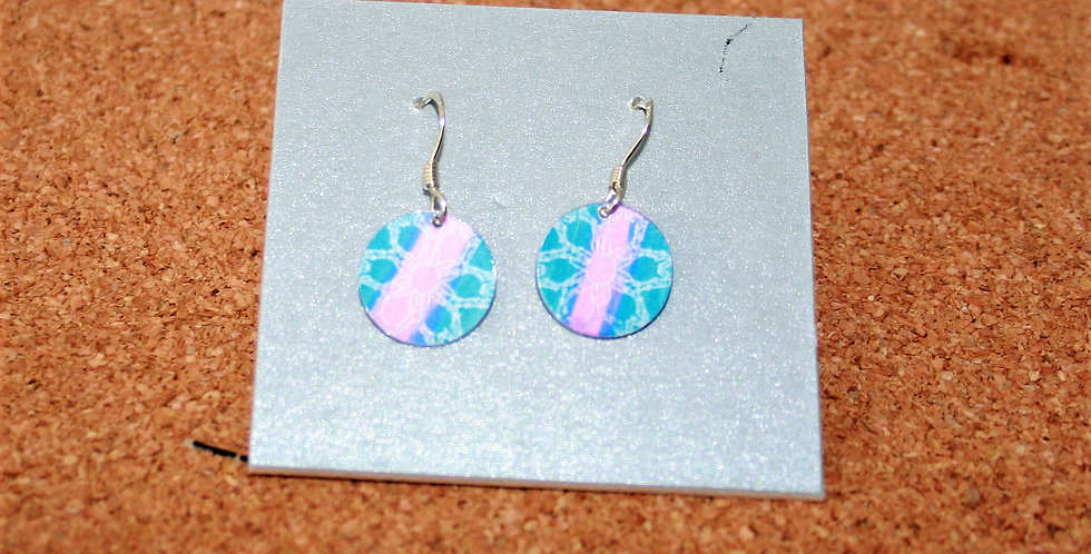 Botanicol- Coloured Aluminium Disc Drop Earrings