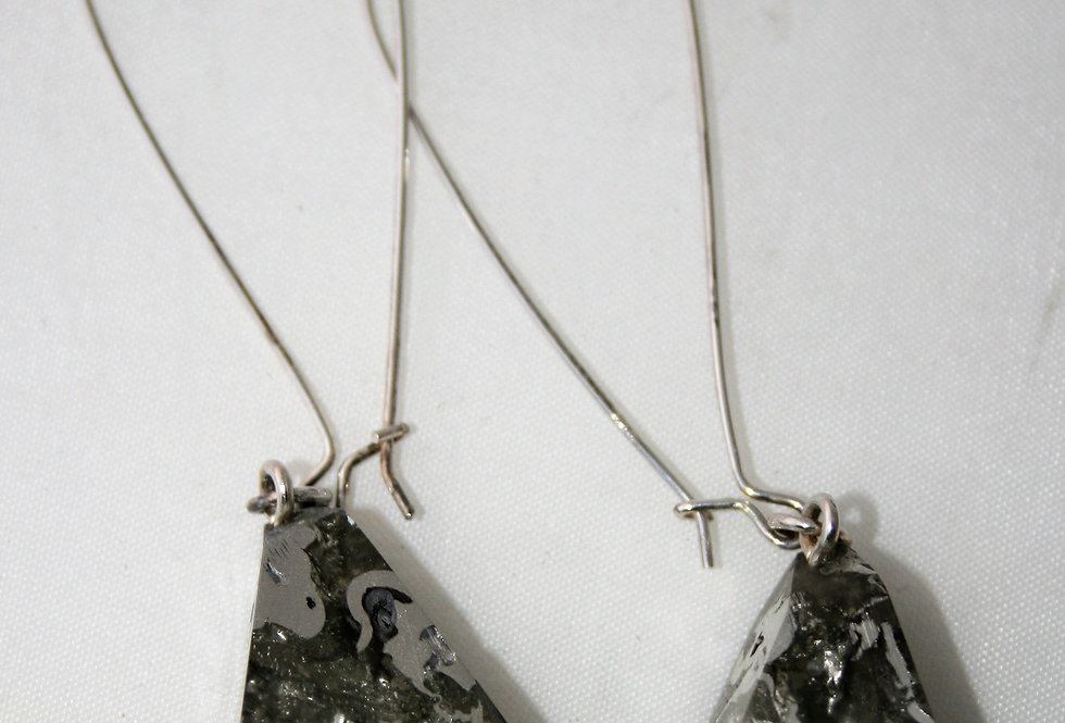 Amy Leigh Resin Rock and Silver Earrings