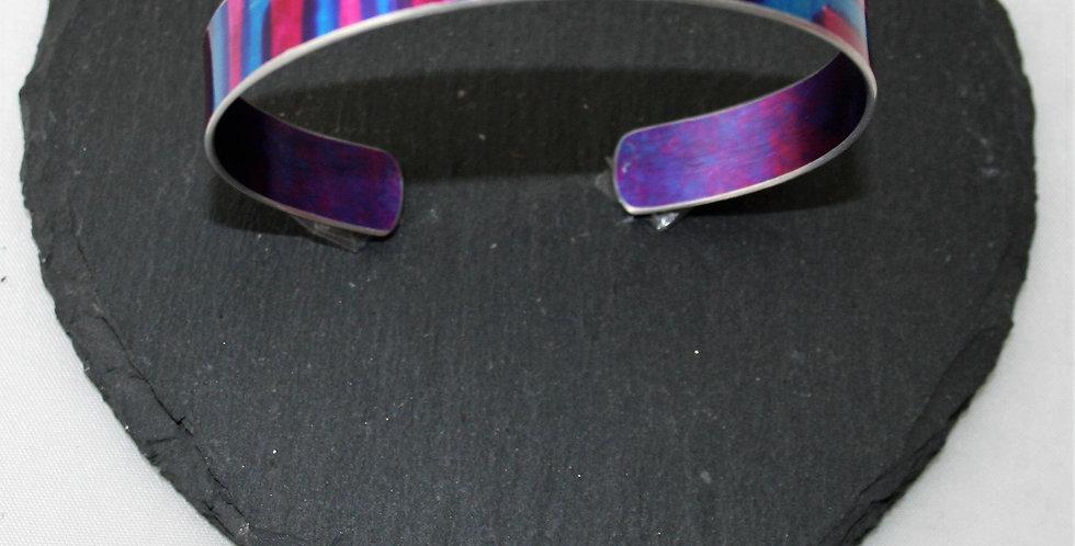 Miranda Peckitt Aluminium Cuff, Blue and Pink- Small