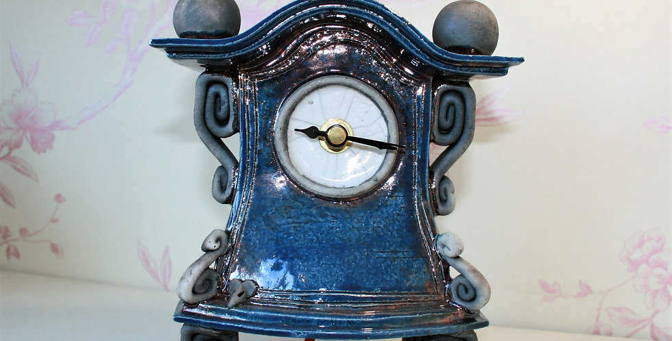 Stone Splitter Blue Clock