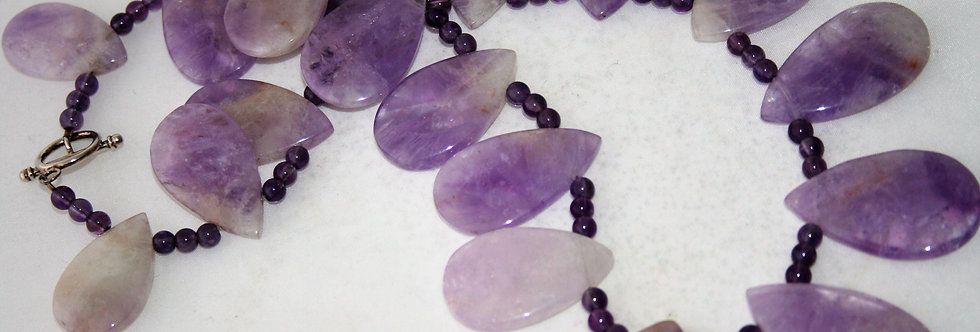 Helen West Lavender Amethyst Beaded Necklace