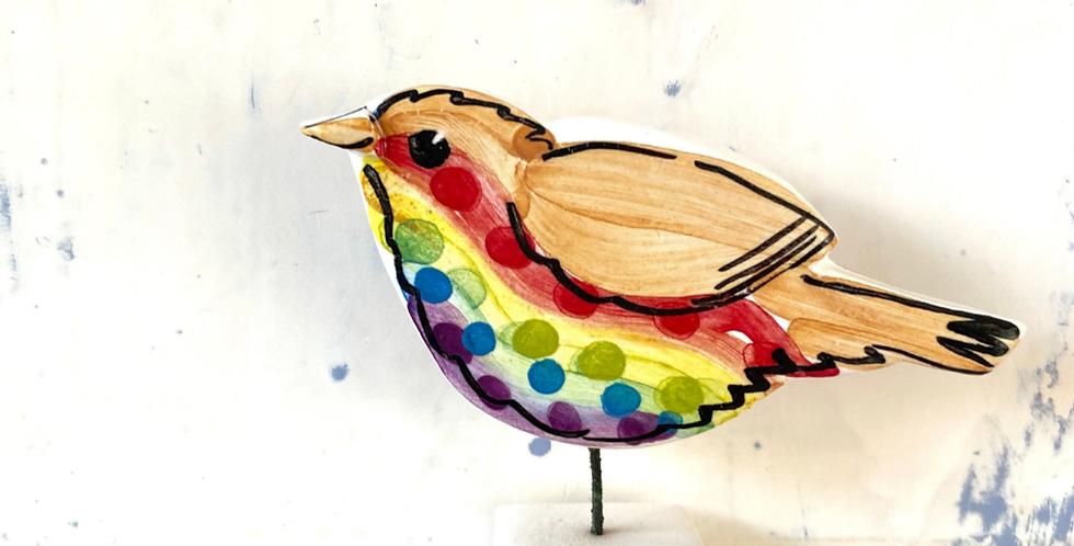 Louise Crookenden Johnson- Rainbow Robin