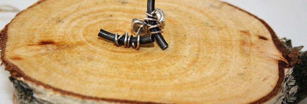 Anterlier Gilmar Rock N Roll Silver Wire oxidised Studs