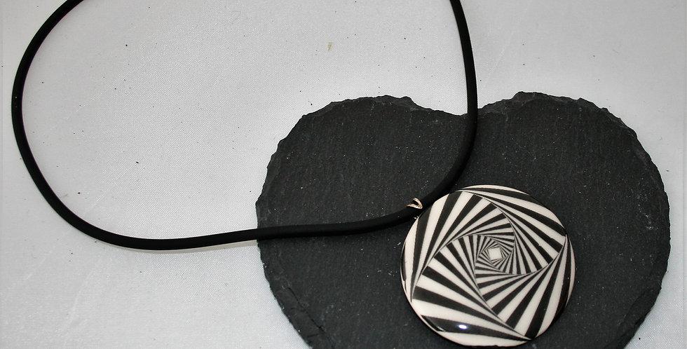 Alison Wiffen Ceramic Monochrome Squares Pendant