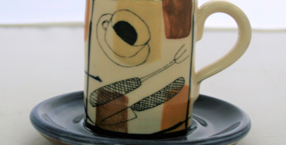 Dan Wright Coffee Cup and Saucer