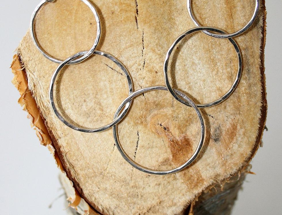 Zoe Ruth Silver Interlocking Rings Necklace