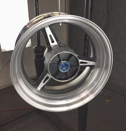 freshly welded widened wheel