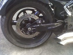 hidden caliper bracket installed