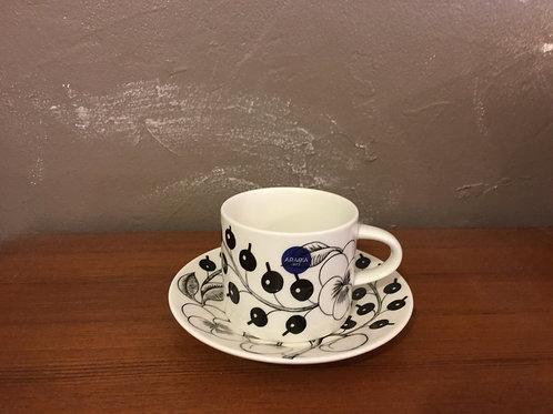 ARABIA     ブラックパラティッシ     コーヒーカップ&ソーサー