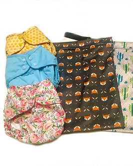 Diaper covers and wet bags