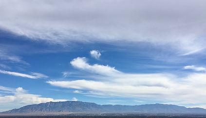 Sandia mountains and Albuquerque
