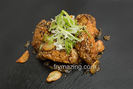 Soy Garlic Wings: Korean Fried Chicken tossed in our Soy Garlic Sauce
