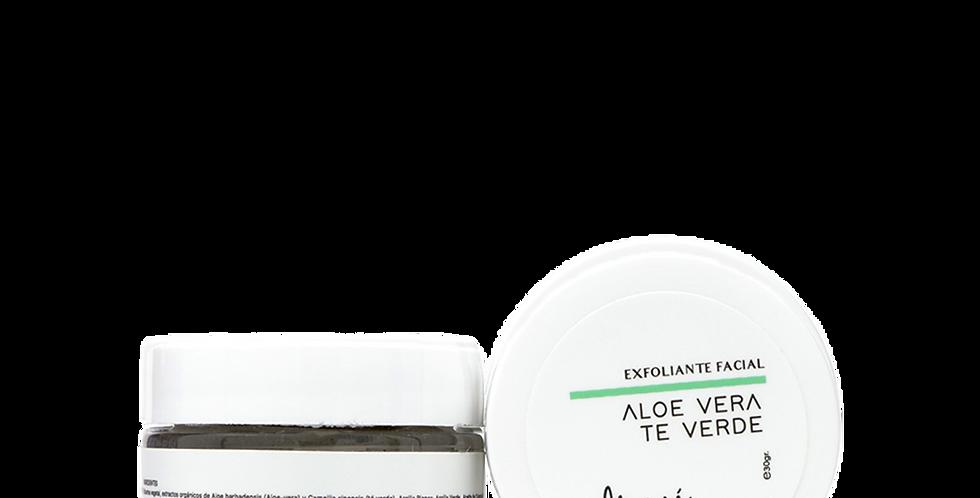 ALOE VERA-TÉ VERDE  -exfoliante facial-