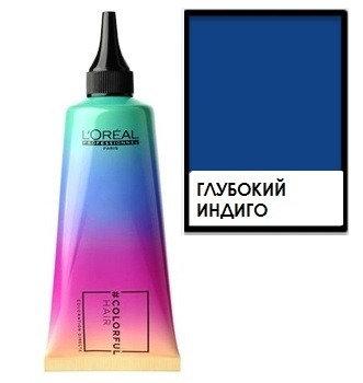 Loreal Colorful Hair - Краска для волос Глубокий индиго, 90мл