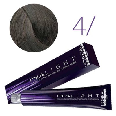 Loreal Dia Light - Краска для волос №4/ (шатен), 50мл