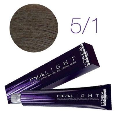 Loreal Dia Light - Краска для волос № 5.1 светлый шатен пепельный, 50мл