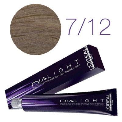 Loreal Dia Light - Краска для волос № 7.12 блондин пепельно-перламутровый, 50мл