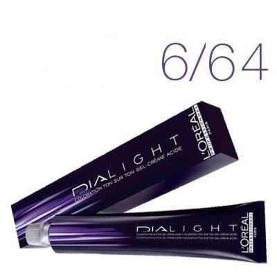 Loreal Dia Light - Краска для волос № 6.64 темный блондин красно-медный, 50мл