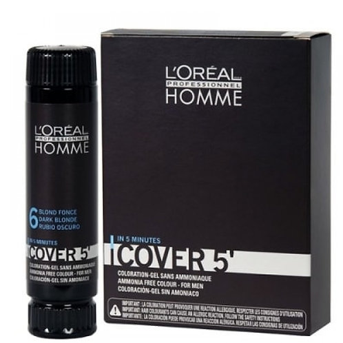 L'Oreal Professionnel Homme Cover - Тонирующий гель 5 №6, 3*50 мл