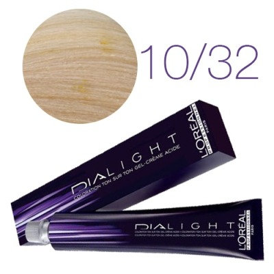 Loreal Dia Light - Краска для волос №10.32 молочный коктейль золотисто-перламутр