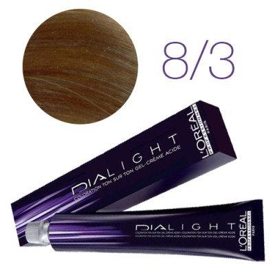 Loreal Dia Light - Краска для волос № 8.3 светлый блондин золотистый, 50мл