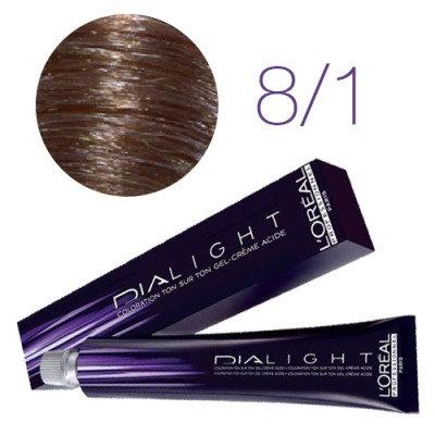 Loreal Dia Light - Краска для волос № 8.1 светлый блондин пепельный, 50мл