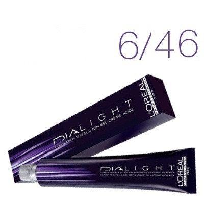 Loreal Dia Light - Краска для волос № 6.46 темный блондин медно-красный, 50мл