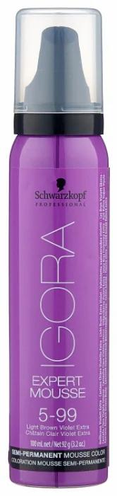 Igora Expert Mousse - Тонирующий мусс 5-99 светло коричневый фиолетовый экстра