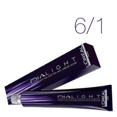 Loreal Dia Light - Краска для волос № 6.1 темный блондин пепельный, 50мл