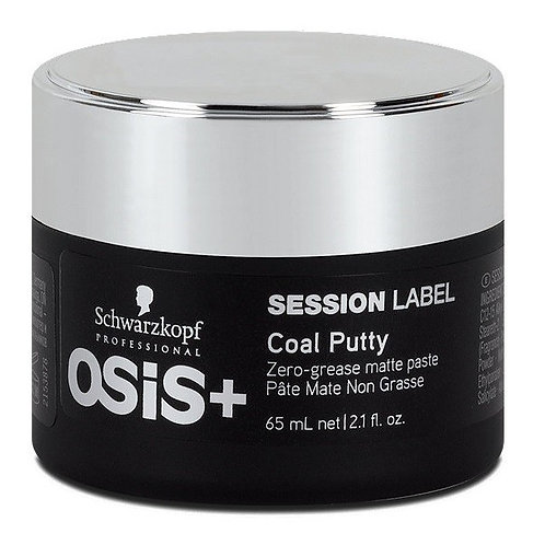 Osis+Session Label Coal Putty - Суперэластичная глина с блеском средней фиксаций