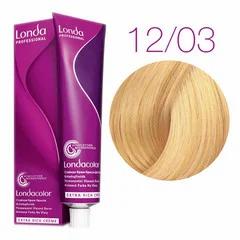 Londa londacolor - Стойкая крем-краска 12/03 спец блонд натрально-золотист, 60мл