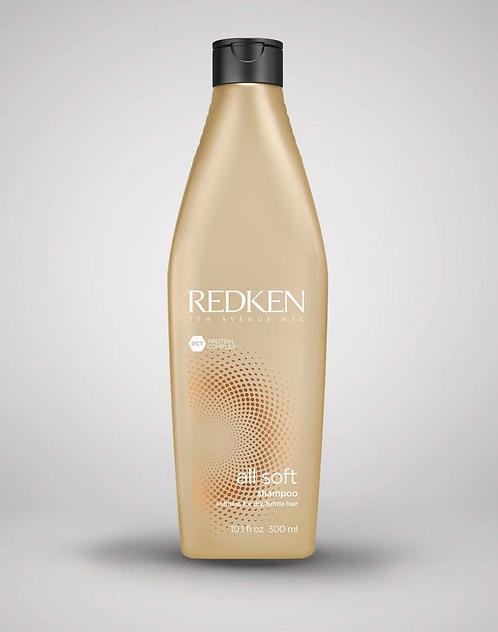 Redken All Soft - Шампунь с аргановым маслом для сухих и ломких волос, 300мл