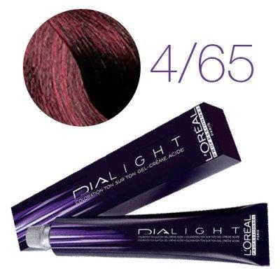 Loreal Dia Light - Краска для волос №4.65 шатен красное дерево, 50мл