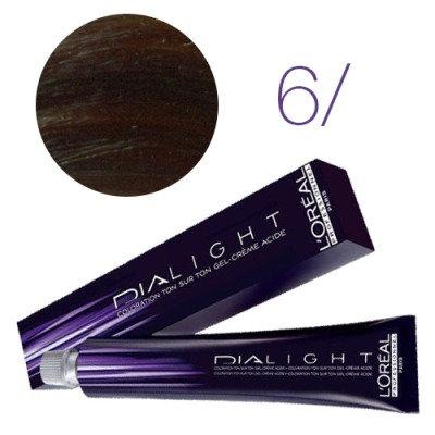 Loreal Dia Light - Краска для волос № 6 темный блондин, 50мл