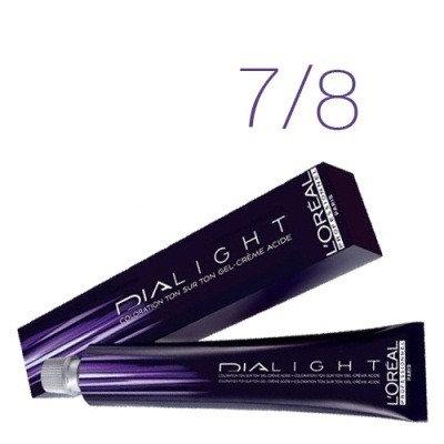 Loreal Dia Light - Краска для волос № 7.8 блондин мокка, 50мл