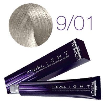 Loreal Dia Light - Краска для волос № 9.1 молочный коктейль ледяной, 50мл