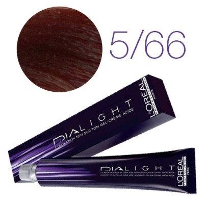 Loreal Dia Light - Краска для волос № 5.66 светлый шатен глубокий красный, 50мл