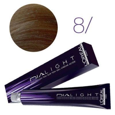 Loreal Dia Light - Краска для волос № 8 светлый блондин, 50мл
