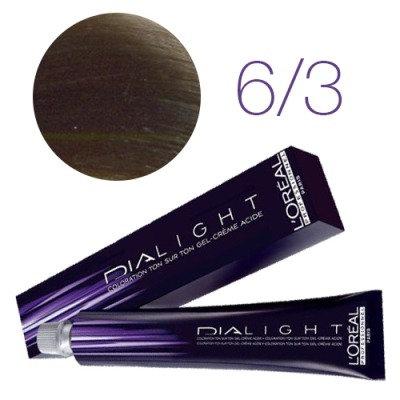Loreal Dia Light - Краска для волос № 6.3 темный золотистый блондин, 50мл