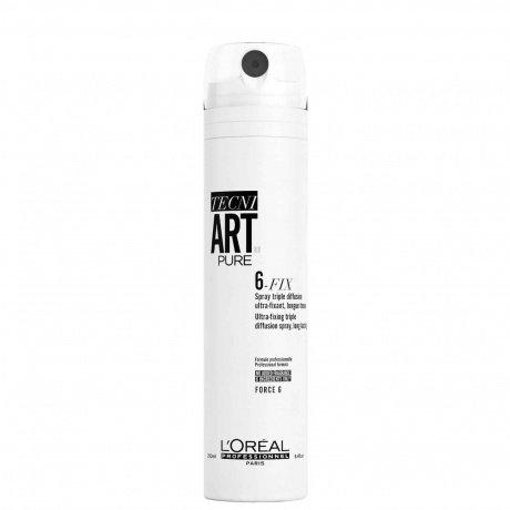 Loreal Tecni Art - Фиксирующий спрей. Фиксация 6/6 - 6-Fix Pure, 250мл