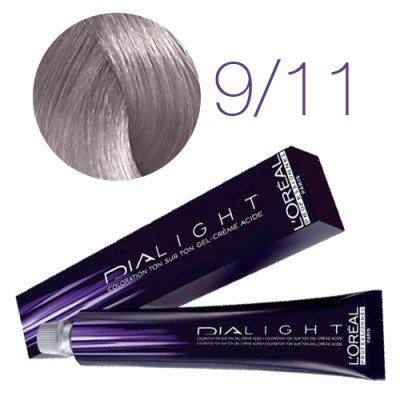 Loreal Dia Light - Краска для волос № 9.11 молочный коктейль пепельный, 50мл