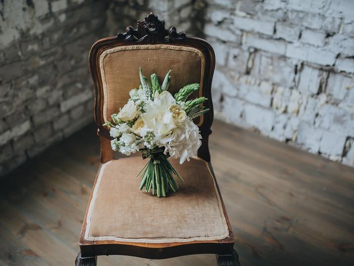 Bridal Bouquet + Boutonniere